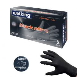 Guanti Monouso Neri in Nitrile - Walking Black Nitro 4.2 Ideale per Tatuatori