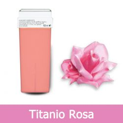 Cartuccia Cera per Rullo Roll-On per Depilazione al Titanio Rosa 100 ml