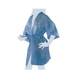 Kimono Monouso Nero Imbustato Singolarmente con Taschino e Cintura - 10 Pezzi