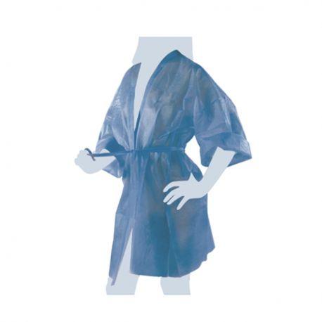 Kimono in TNT Nero Imbustato Singolarmente con Taschino e Cintura