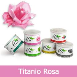 Cera Depilatoria Titanio Rosa Liposolubile in Barattolo 400 ml