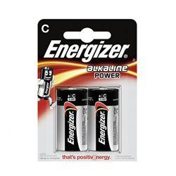 Energizer C MezzaTorcia Alkaline Power - Blister da 2 pile
