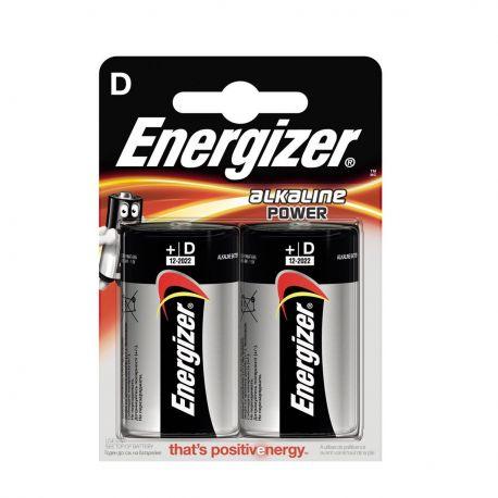 Energizer D Torcia Alkaline Power - Blister da 2 Pile