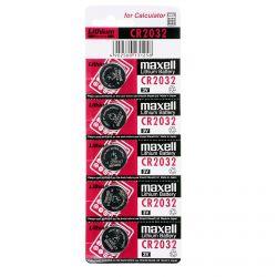 Pile CR 2032 Maxell Pila 3V - Blister da 5 Batterie al Litio