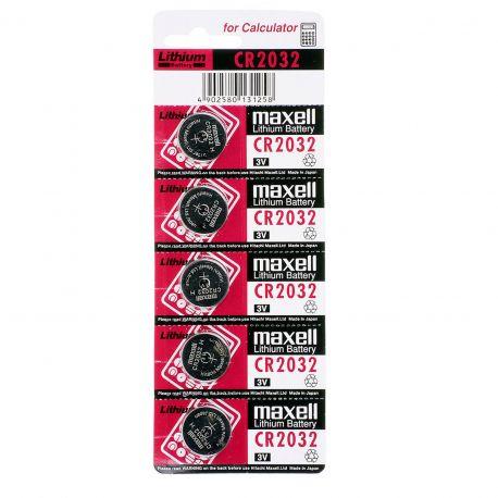 Pile CR2032 Maxell Pila 3V - Blister da 5 Batterie al Litio