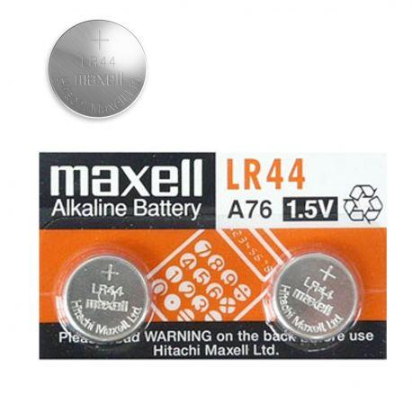 2 Pile LR44 Maxell - Batterie Alkalina1,5V