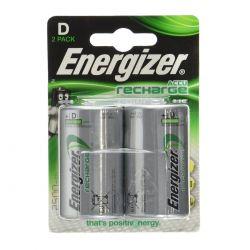 Energizer Torcia D 2500 mAh - Blister da 2 Batterie Ricaricabili