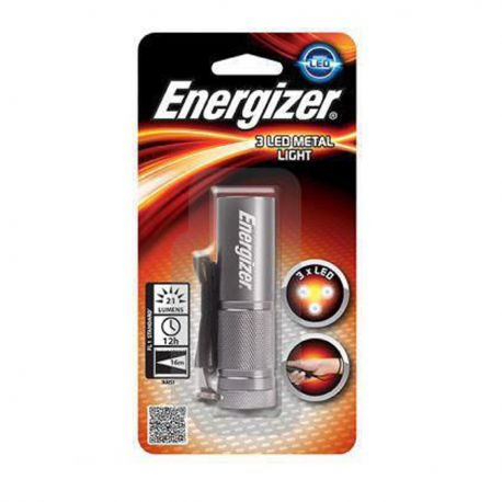 Torcia Elettrica in Metallo Portatile Energizer 3 Led Metal Light