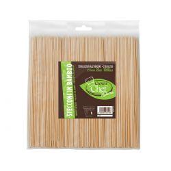 Stecconi in Bamboo - 25 cm conf. da 1000 Pz.