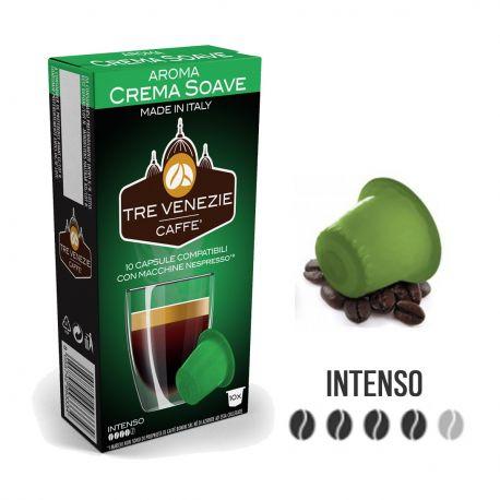 10 Capsule Caffè Tre Venezie Aroma Crema Soave Compatibili Nespresso