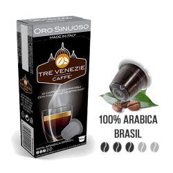10 Capsule Oro Sinuoso Compatibili Nespresso - Caffè Tre Venezie