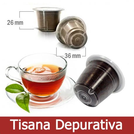10 Tisane Depurative Capsule Compatibili Nespresso - Tre Venezie Cialde