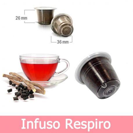 10 Capsule Tisana in Foglia Infuso Respiro Compatibili Nespresso