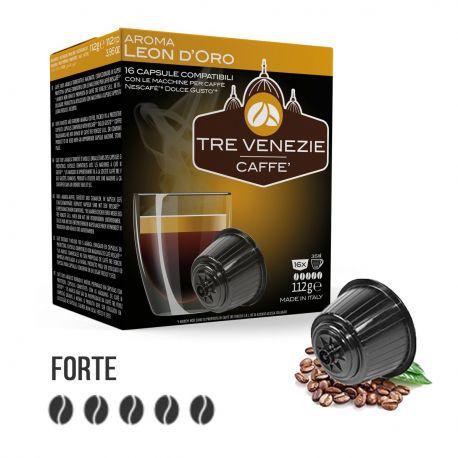 96 Capsule Caffè Aroma Leon D'Oro Tre Venezie - Compatibili Nescafè Dolce Gusto