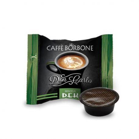 50 Capsule Don Carlo Caffè DEK Borbone Miscela Verde (compatibili Lavazza A Modo Mio)