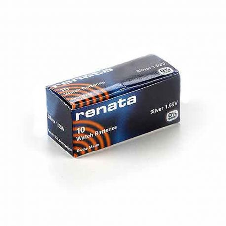 376 Renata SR626W Pila Free Mercury all'Ossido d'Argento - Confezione 10 Batterie