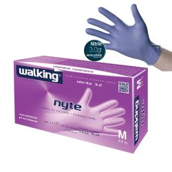 Guanti Monouso in Nitrile Color Indaco - Walking Nyte