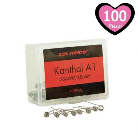 Resistenze Pronte Kanthal A1 Coil Master - 100 Pezzi