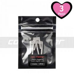 Resistenze Pronte Staggered Fused Clapton Coil Master - 3 Pezzi