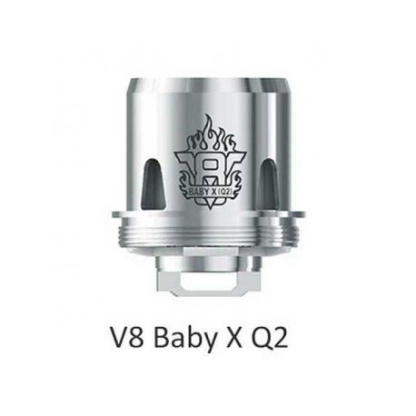 V8 X-Baby Q2 Resistenza Smok Head Coil per Atomizzatore TFV8 X-Baby - 3 Pezzi