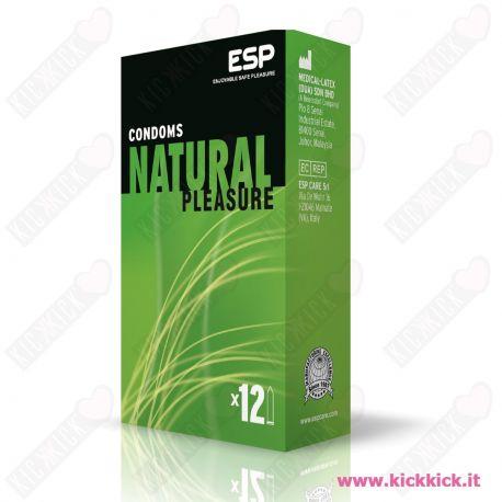Profilattici ESP Natural Scatola da 12 Preservativi