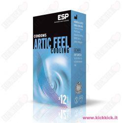 Profilattici ESP Artic Feel Cooling Scatola da 12 Preservativi Stimolanti con Rilievi e Nervature