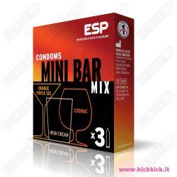Profilattici ESP Minibar Scatola da 3 Preservativi Aromatizzati al Bailey's Cointrau Cognac