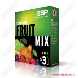 Profilattici ESP Fruit Mix Scatola da 3 Preservativi Aromatizzati ai Frutti