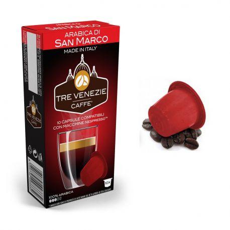 10 Capsule Arabica di San Marco Compatibili Nespresso - Caffè Tre Venezie