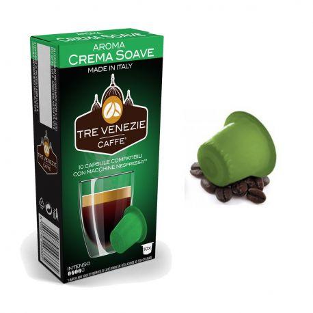 10 Capsule Crema Soave Compatibili Nespresso - Caffè Tre Venezie