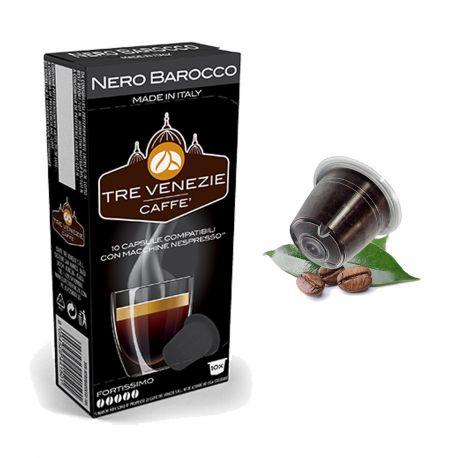 10 Capsule Nero Barocco Compatibili Nespresso - Caffè Tre Venezie