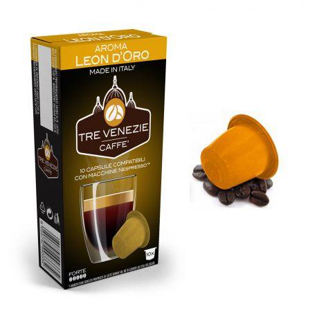 100 Capsule Caffè Aroma Leon D'Oro Tre Venezie - Compatibili Nespresso
