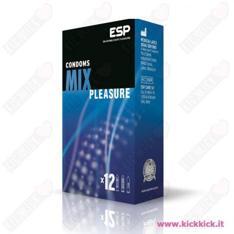Profilattici ESP Mix Pleasure Scatola da 12 Preservativi Assortiti
