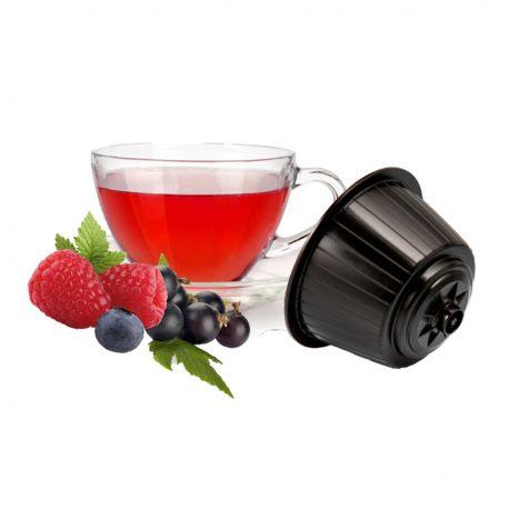 16 Tisana ai Frutti di Bosco Compatibili Nescafè Dolce Gusto