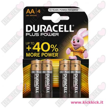 Duracell AA Stilo Plus Power Duralock - Blister da 4 pile