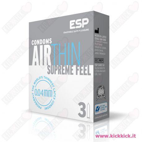 ESP Air Thin - Scatola da 3 Preservativi Ultrasottili