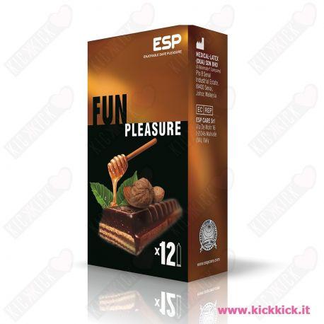 Profilattici ESP Fun Scatola da 12 Preservativi Aromatizzati al Cioccolato Caramello e Amaretto