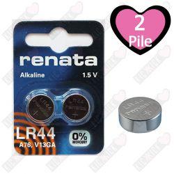 LR44 Renata Pila 1,5V Alkalina 2 Batterie 110 mAh