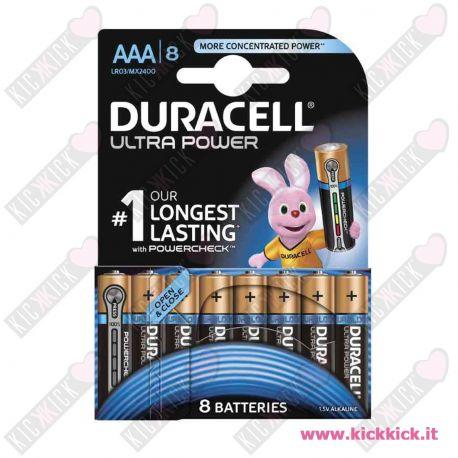 Duracell AAA MiniStilo Ultra Power Duralock - Blister da 8 pile