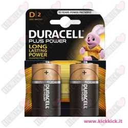 Duracell D Torcia Plus Power Duralock - Blister da 2 pile
