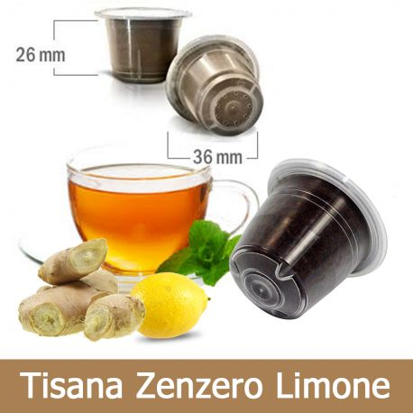 10 Tisana Zenzero e Limone Compatibili Nespresso