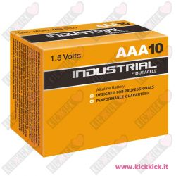 Duracell AAA MiniStilo Industrial - Confezione 10 pile