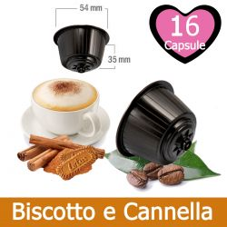 16 Cappuccino Biscotto e Cannella Speculoos Nescafè Dolce Gusto Capsule Compatibili
