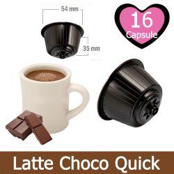16 Latte Choco Quick Nescafè Dolce Gusto Capsule Compatibili