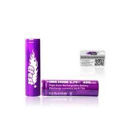 Efest 14500 Batteria al Litio 3,7V 650 mAh 9,75A IMR Purple High drain 1 Pezzo