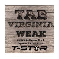 Tab Virginia Weak Aroma Scomposto T-Star Liquido da 20ml