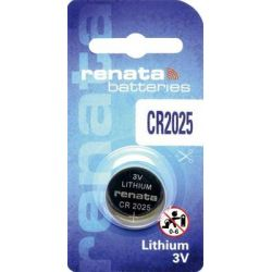 CR2025 Batteria a bottone Pila Litio Renata CR 2025 165 mAh 3 V 1 pz.